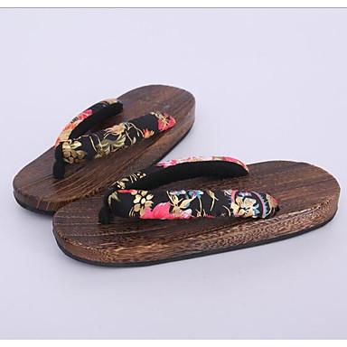 Damen Schuhe Baumwolle Stoff Frühling Herbst Cloggs & Pantoletten Cloggs & Pantoletten Für Normal Schwarz