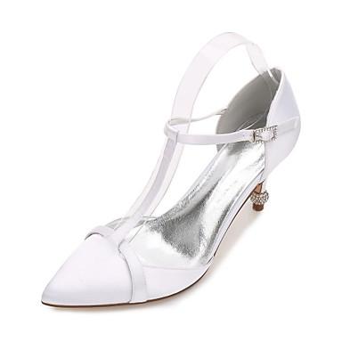 Mujer Zapatos Satén Primavera / Verano Confort / D'Orsay y Dos Piezas Zapatos de boda Tacón Plano Dedo Puntiagudo Corbata de Lazo Azul Sn9zRy