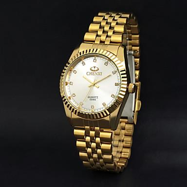 CHENXI® Homens Relógio de Pulso Relógio Casual Aço Inoxidável Banda Amuleto Dourada / Dois anos / Maxell SR626SW