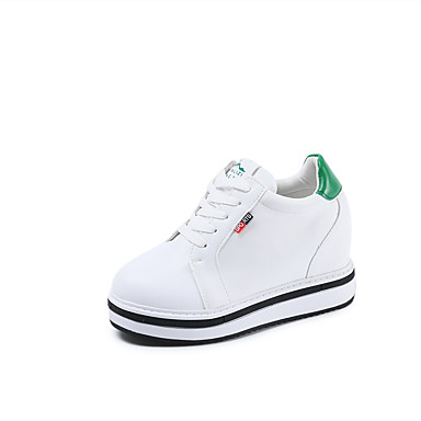 Damen Schuhe TPU Frühling Herbst Komfort Flache Schuhe Walking Flacher Absatz Runde Zehe Schnürsenkel für Normal Schwarz Rot