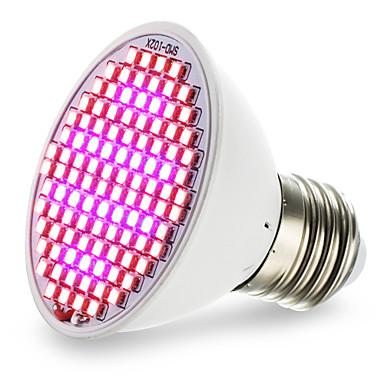 4.5W 2500-3000lm E27 Voksende lyspære 106 LED perler SMD 2835 Blå Rød 85-265V