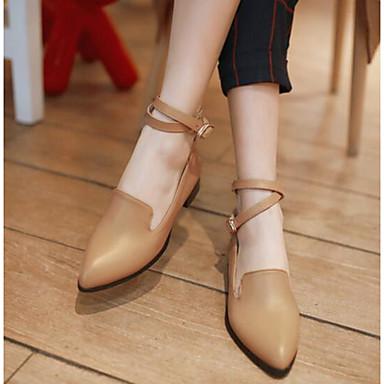 Damen Schuhe PU Frühling Komfort High Heels Für Normal Schwarz Rot Mandelfarben