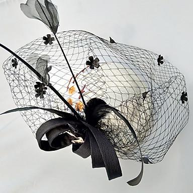 Tüll Chiffon Spitze Stoff Seide Netz Fascinatoren Hüte 1 Hochzeit Besondere Anlässe Geburtstag Party / Abend Kopfschmuck