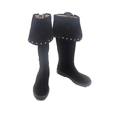 Cosplay أحذية تأثيري أحذية Cosplay الكوسبلاي أنيمي Cosplay أحذية جلد PU جلد جلد البولي يوريثان للجنسين للبالغين
