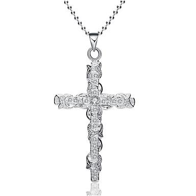 Női Szintetikus gyémánt Nyaklánc medálok - Križ Ezüst