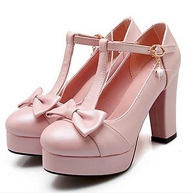 Damen Schuhe PU Frühling Komfort Sandalen Für Normal Weiß Blau Rosa