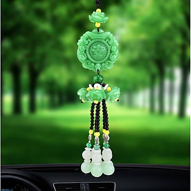 رخيصةأون اكسسوارات السيارات الداخلية-دي السيارات سيارة قلادة محظوظ اليشم عالية الأزياء سيارة قلادة&الحلي الكريستال