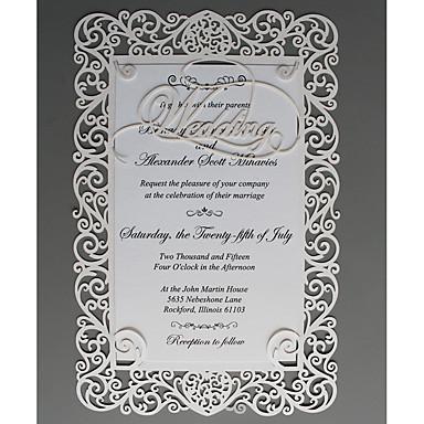 abordables Faire-part mariage-Carte plate Invitations de mariage 50 - Cartes d'invitation / Echantillons d'invitation / Cartes de la Fête des Mères Style moderne Papier gaufré