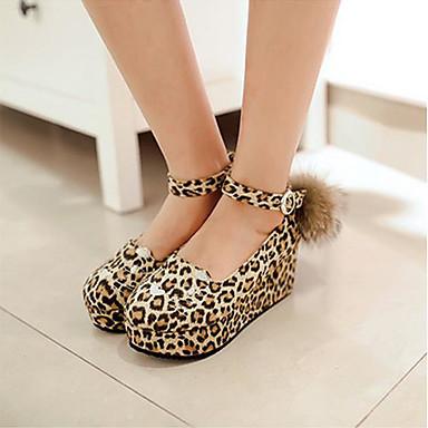 Damen Schuhe PU Frühling Komfort Flache Schuhe Für Normal Schwarz Gelb Rot