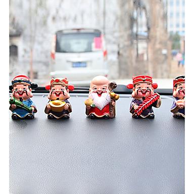 DIY autóipari díszek rajzfilm anime kis szerzetes babák autó medál&Díszítő gyantát