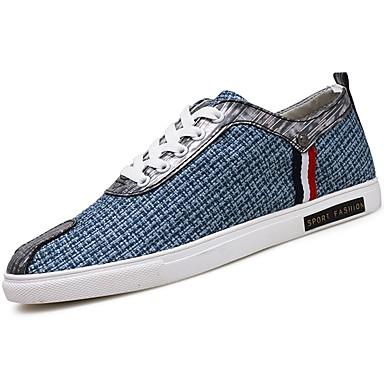 Men's PU(Polyurethane) Spring / Fall Comfort Sneakers Black / Blue / Khaki