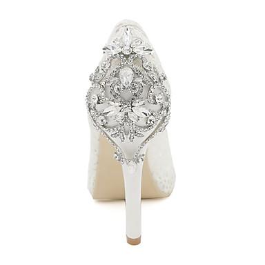 Bout Eté Printemps Tulle 06172847 ouvert Chaussures de Talon mariage Noir Dentelle Strass Escarpin Basique Aiguille Rose Chaussures Femme wqgHFF