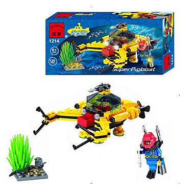Bausteine Spielzeuge Schiff Spaß Kunststoff Kinder Stücke