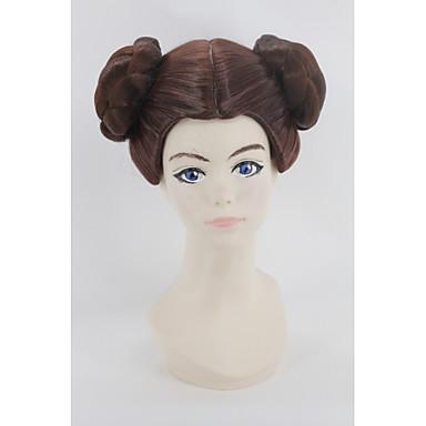 women short dark auburn synthetic hair cosplay wig Halloween