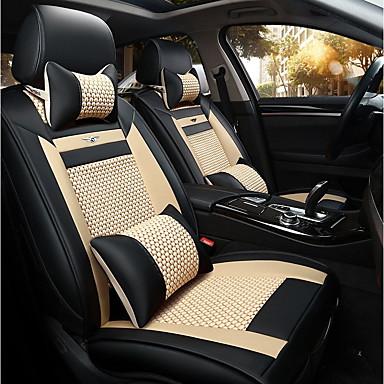 voordelige Auto-interieur accessoires-Auto-stoelhoezen Stoel hoezen Beige IJszijde Zakelijk Voor Universeel