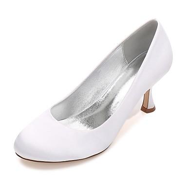 Női Cipő Szatén Tavasz / Nyár Magasított talpú / Kényelmes Esküvői cipők Cicasarok / Alacsony / Tűsarok Kerek orrú mert Esküvő / Party és