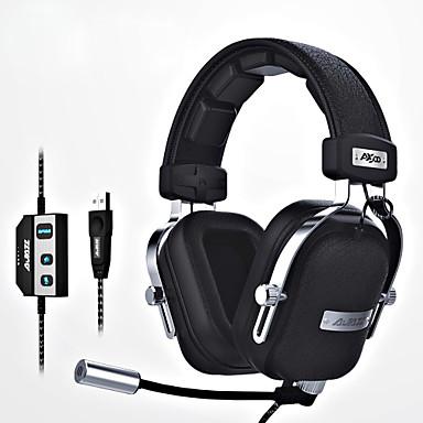 ajazz-ax300 Stirnband Mit Kabel Kopfhörer Dynamisch Aluminum Alloy / Stoff / Kunststoff Spielen Kopfhörer Ergonomische Comfort-Fit / Mit
