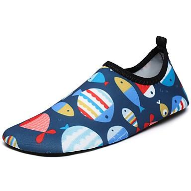 Jungen Schuhe Elasthan Sommer Herbst Komfort Leuchtende Sohlen Sportschuhe Wasser-Schuhe Für Sportlich Normal Marinenblau
