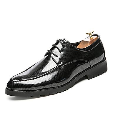 Férfi cipő Bőrutánzat Ősz Tél Formai cipő Félcipők Gyalogló Fűző Kompatibilitás Esküvő Hétköznapi Party és Estélyi Fekete Piros Kék