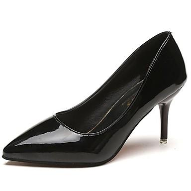 Női Cipő PU Ősz Magasított talpú Magassarkúak Tűsarok Erősített lábujj mert Ruha Fekete Ezüst Rózsaszín