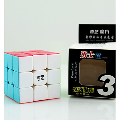 Rubik's Cube QIYI Warrior 3*3*3 Smooth Speed Cube Magic Cube Educational Toy Stress Reliever Puzzle Cube Competition Gift Unisex