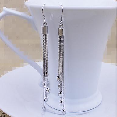 Női Luxus Függők - Luxus / Bojt / Barátság Ezüst Geometric Shape Fülbevaló Kompatibilitás Esküvő / Parti / Eljegyzés
