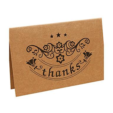 Felfelé nyíló Esküvői Meghívók Mások Köszönő kártyák Meghívók Klasszikus Anyag Pergamen Virág