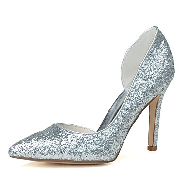 Women's Shoes Glitter Spring / Summer Formal Shoes Heels Stiletto Heel Pointed Toe Gold / Silver / Dress