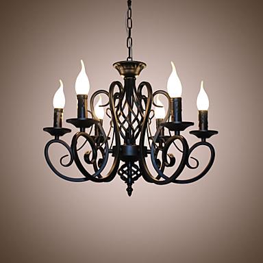 6-Light Gyertya-style Csillárok Háttérfény - gyertya stílus, 110-120 V / 220-240 V Az izzó nem tartozék / 10-15 ㎡ / E12 / E14