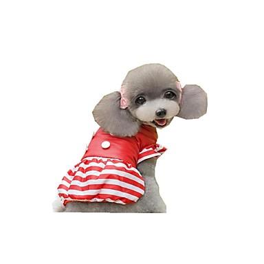 Hund Overall Hundekleidung Streifen Gelb Rot Rosa Polyester Daune Kostüm Für Haustiere Damen Lässig / Alltäglich