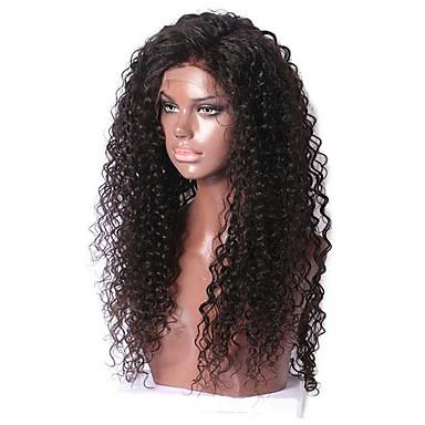 Emberi haj Csipke / Csipke eleje Paróka Brazil haj Egyenes / Göndör Paróka 130% új / Természetes hajszálvonal Női Rövid / Közepes / Hosszú Emberi hajból készült parókák