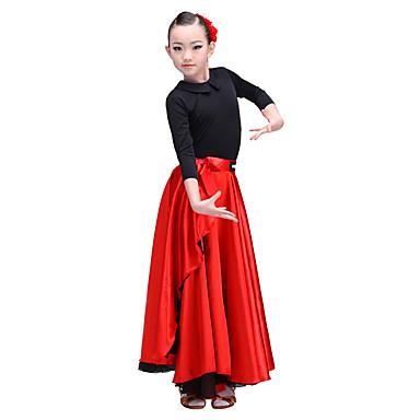 Latin Dance Bottoms Performance Senior Emulation Silk / Satin Chiffon Dropped Skirts