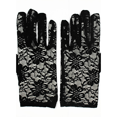 Lace Wrist Length Glove Bridal Gloves / Party / Evening Gloves With Embroidery