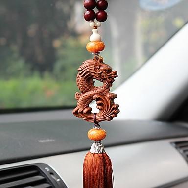DIY autóipari medálok kínai stílusú sárkány béke szimbólum autó medál&Fából készült díszek