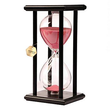 Hourglass ألعاب ألعاب مستطيل الساعة الرملية خشب زجاج غير محدد قطع