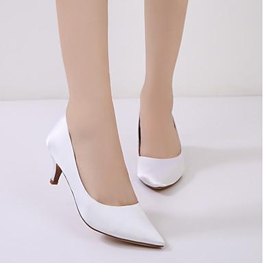 Basique Bas Cône Printemps Kitten Chaussures de Satin Escarpin mariage Femme Bout Talon Chaussures pointu Eté Confort Heel 06135821 Talon xZqO1fBBYw
