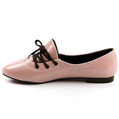 Damen Schuhe Echtes Leder PU Sommer Komfort Flache Schuhe Für Normal Weiß Schwarz Rosa
