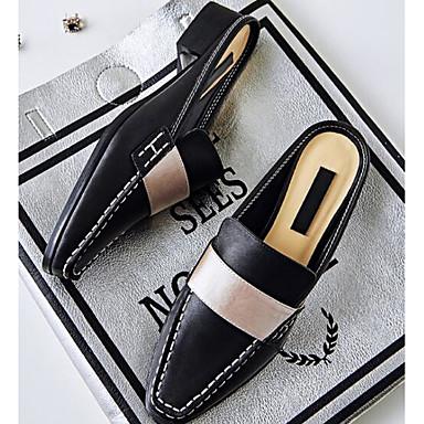Damen Sandalen Komfort Echtes Leder PU Sommer Normal Schwarz 2,5 - 4,5 cm