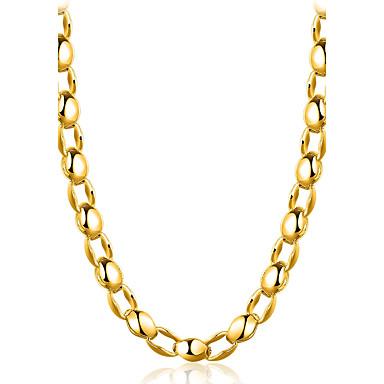 Férfi Arannyal bevont Rövid nyakláncok - Klasszikus / Természet / Gótikus Geometric Shape Arany Nyakláncok Kompatibilitás Parti /