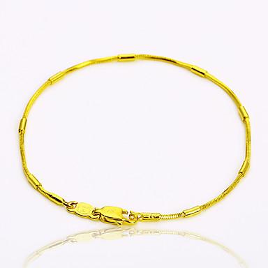 Női Arannyal bevont Lánc & láncszem karkötők - Személyre szabott Vintage Alap Kör Tube Shape Arany Karkötők Kompatibilitás Parti Ajándék