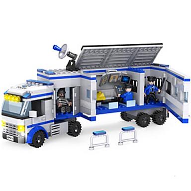 Építőkockák Autó Rendőrautó Fiú Ajándék