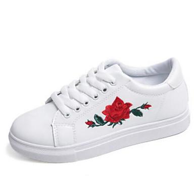 Damen Schuhe PU Frühling Komfort Sneakers Für Normal Weiß Schwarz