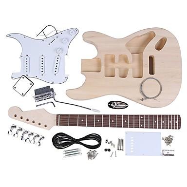 Elektromos gitár ST Style Basswood Fa DIY Pro Móka