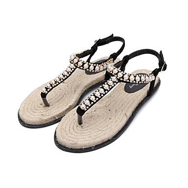 Damen Schuhe PU Sommer Komfort Gladiator Sandalen Für Normal Schwarz