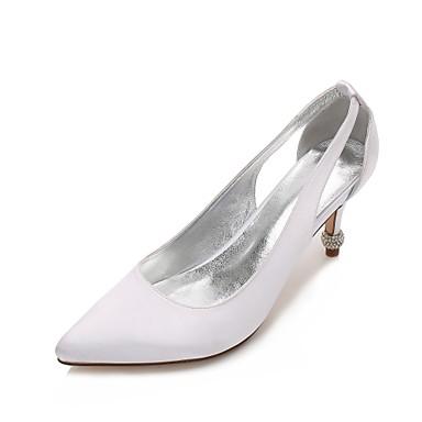 Women's Shoes Satin Spring Summer Basic Pump D'Orsay & Two-Piece Comfort Wedding Shoes Kitten Heel Cone Heel Low Heel Stiletto Heel