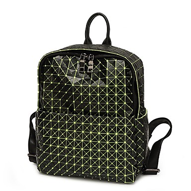 Women's Bags Silica Gel Backpack for Casual All Seasons Green White Red Amethyst