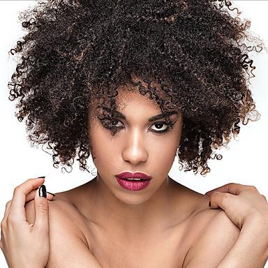 Szintetikus parókák Göndör Sűrűség Sapka nélküli Női Természetes paróka Rövid Szintetikus haj