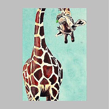 Hang-Ölgemälde Handgemalte - Tiere Künstlerisch Modern / Zeitgenössisch Segeltuch