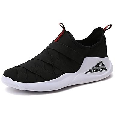 Mujer Zapatos Tejido Otoño / Invierno Confort Zapatillas de Atletismo Paseo Tacón Plano Negro / Rojo / Verde bqxpHDELRy