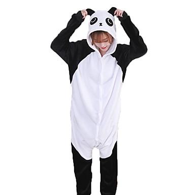 Felnőttek Kigurumi pizsama Panda Onesie pizsama Φανελένιο Ύφασμα Fekete / Fehér Cosplay mert Férfi és női Allati Hálóruházat Rajzfilm Fesztivál / ünnepek Jelmez